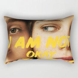 I Am Not Okay With This Rectangular Pillow