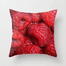 Raspberries Throw Pillow