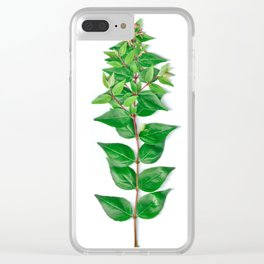 Leafy Branch Clear iPhone Case