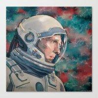 interstellar Canvas Prints featuring Interstellar by Hector Trunnec