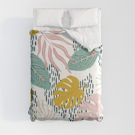 Contemporary Flowers Comforters
