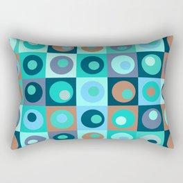 Circles and Squares Pattern 3 Rectangular Pillow