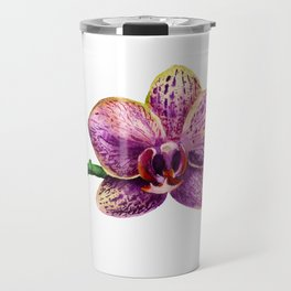 Watercolor image of purple orchid Travel Mug