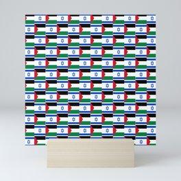 Mix of flag: Israel and Paslestine Mini Art Print