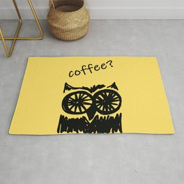 Coffee? Morning owl print, good morning to all coffee lovers  Rug