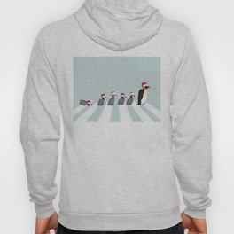 Christmas Santa Penguins The Abbey Road Hoody