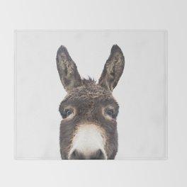 Hey Donkey Throw Blanket