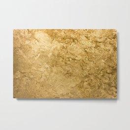 Golden texture background. Vintage gold. Metal Print