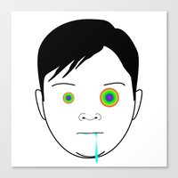 toddler Canvas Prints featuring Drooling Toddler by Ricardo Miranda Zuniga
