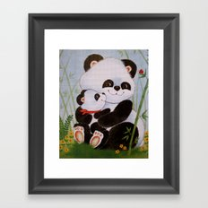 Panda Love Framed Art Print