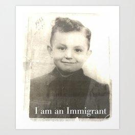 I man Immigrant Art Print