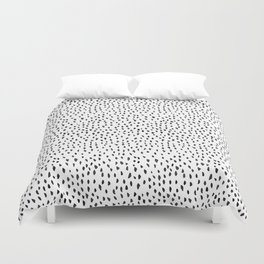 Black and White Spots Duvet Cover