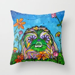 Lily Rose, the Pekingese Throw Pillow