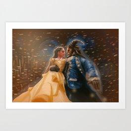 Beauty and the Beast Digital Painting Art Print