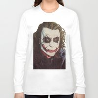 the joker Long Sleeve T-shirts featuring joker by DeMoose_Art