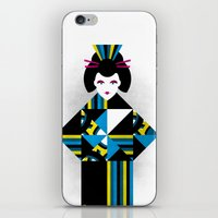 geisha iPhone & iPod Skins featuring GEISHA by Oscar Odd Diodoro