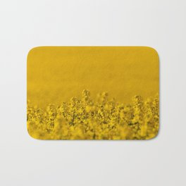 Bright yellow rapeseed blossoms & field - rural landscape photograph Bath Mat