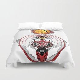 Cosmic Smoking Bloodshot Dragon Duvet Cover