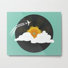 Sunburst Records Metal Print