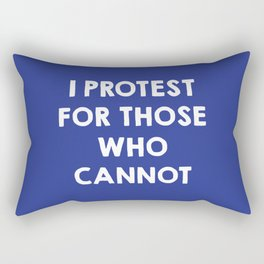 I protest for those who cannot - purple Rectangular Pillow