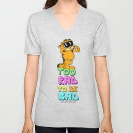 Too Rad to be Sad Garfield the Cat Unisex V-Neck