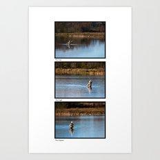 Gone Fishing Triptych White Art Print