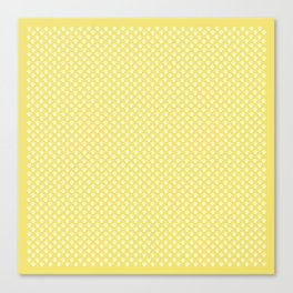 Tiny Paw Prints Lemon Yellow Pattern Canvas Print