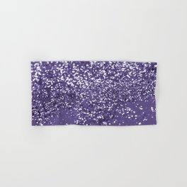 Sparkling ULTRA VIOLET Lady Glitter #1 #shiny #decor #art #society6 Hand & Bath Towel
