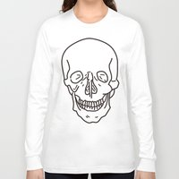 skeleton Long Sleeve T-shirts featuring Skeleton by FACTORIE