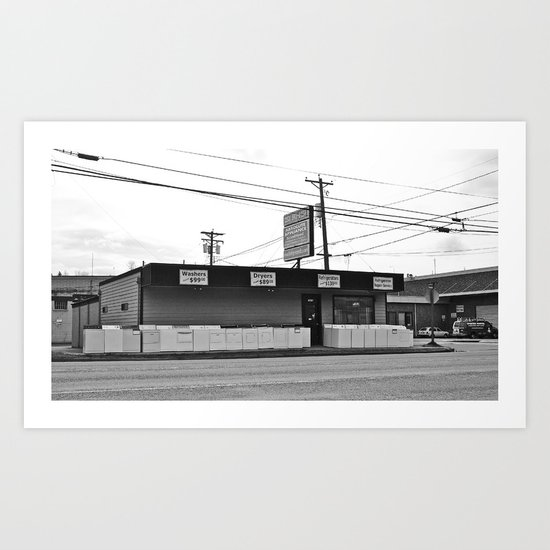 Local appliance store Art Print