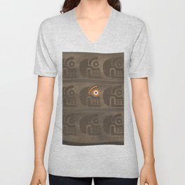 tzompantli's eye Unisex V-Neck