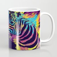zebra Mugs featuring Zebra Splatters by Olechka