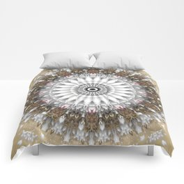 Mandala with an abstract romantic touch Comforters