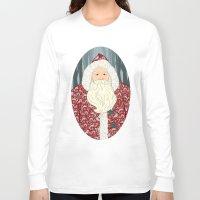 santa Long Sleeve T-shirts featuring Santa by Beesants