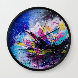Night Lotus Wall Clock