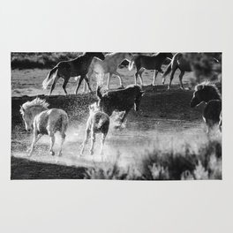 Hijinks at the Waterhole bw Rug