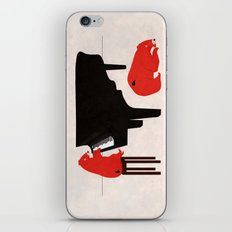 A Sleepy bear playing piano iPhone & iPod Skin