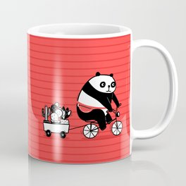 Cacti delivery. Panda on bicycle. Coffee Mug