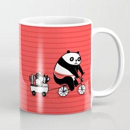 Cacti delivery. Panda on bicycle. Coffee Mug