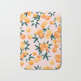 Orange Twist Flower Vibes #7 #tropical #fruit #decor #art #society6 Bath Mat