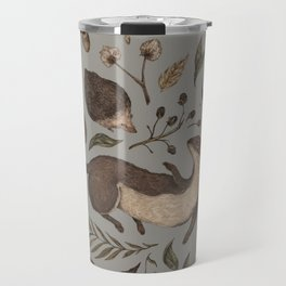 Weasel and Hedgehog Travel Mug