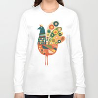 mid century Long Sleeve T-shirts featuring Century Hen by Picomodi