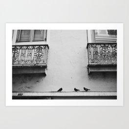 The Three in Grey Art Print