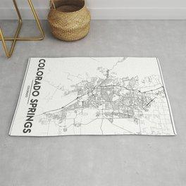Minimal City Maps - Map Of Colorado Springs, Colorado, United States Rug
