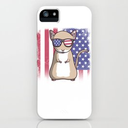 Merica Gerbil USA American Flag iPhone Case