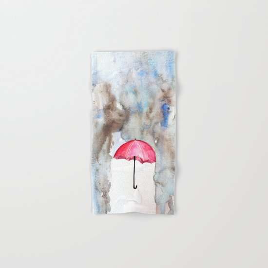 The Red Umbrella Hand & Bath Towel