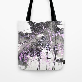 Sumie No.6 weeping willow cherry blossoms Tote Bag