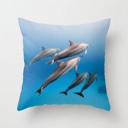 Dolphin Squad Throw Pillow