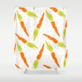 Watercolor carrot Shower Curtain