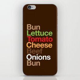Burgervetica iPhone Skin